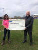 £1000 cheque presented to Ayr United
